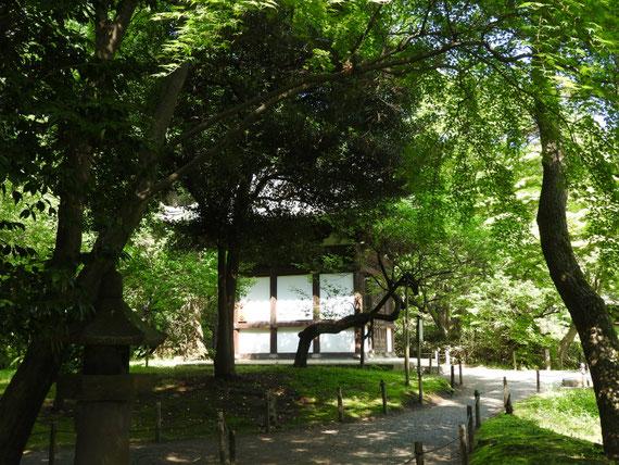 旧天瑞寺寿塔覇堂 左小路から