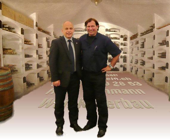 Fachgespräch mit Bundesrat Ueli Maurer an der Gewerbeausstellung 2009