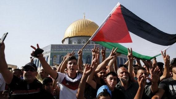 La défense de leurs droits à l'Esplanade de la Mosquée est une urgence fondamentale pour tous les Palestiniens - Crédit : AFP Photo / Ahmad Gharabli
