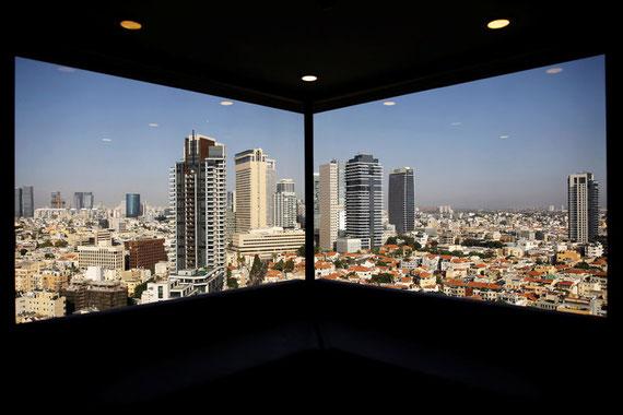 Tel-Aviv depuis les fenêtres d'un hôtel, en mai 2017.Amir Cohen/Reuters