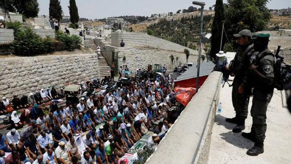 Siuation tendue autour de l'Esplanade des Mosquée à Jérusalem - REUTER