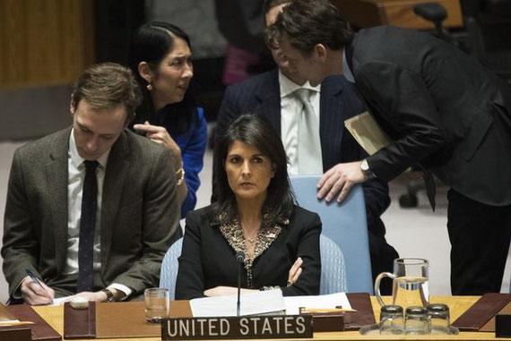 Nikki Haley, ambassadrice des États-Unis auprès des Nations unies (AFP)