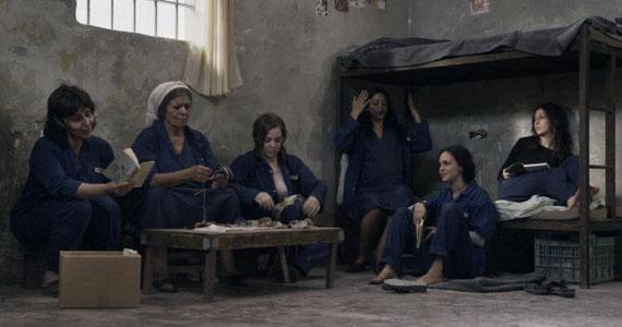 La cellule où Layal, enceinte, a rejoint d'autres détenues palestiniennes @JHR Films / Les Films d'Ici