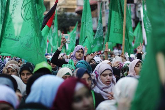 Selon le Hamas, les femmes « jouent un rôle fondamental dans la construction du présent et de l'avenir » (AFP)