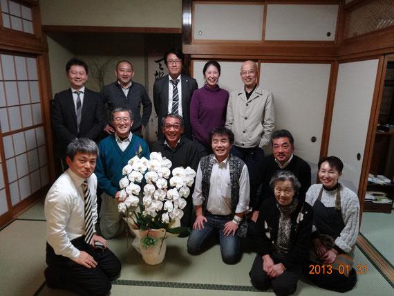 木っぷ見学会(南主催)打上げにて 2013.01.31