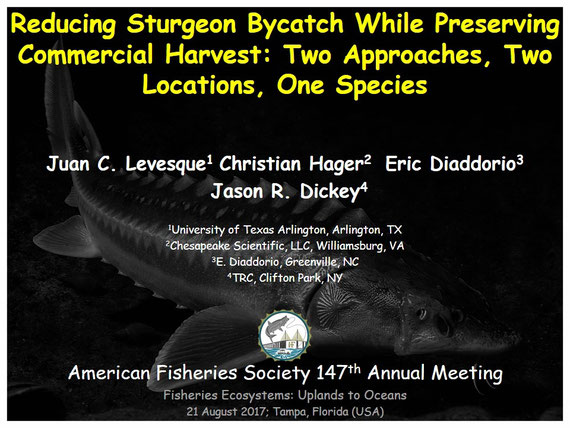 Juan C. Levesque, Fishery Biologist; American Fisheries Society Presentation.