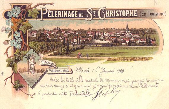 Carte postale expédiée en 1903
