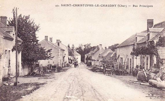 La rue principale au début du XXe siècle