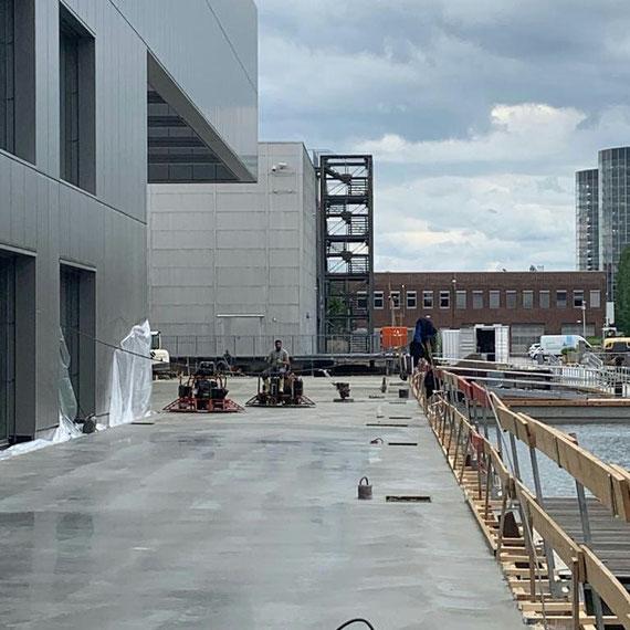 Über 1.000m² polierte Terrasse in unter 72 Stunden fertig hergestellt!
