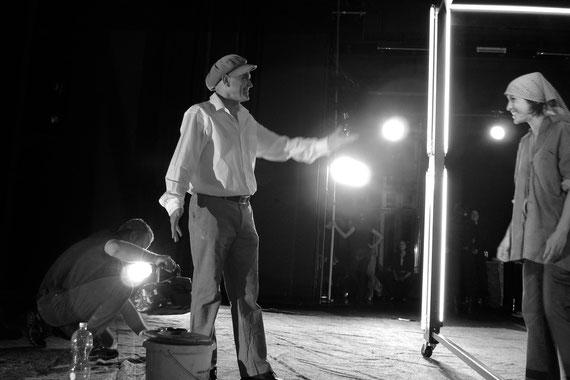 Probe zu DIE FETTEN JAHRE SIND VORBEI mit Hanspeter Horner // Vorarlberger Landestheater // photo © Stefan Pohl
