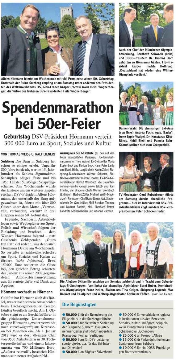 Allgäuer Zeitung vom 13. September 2010