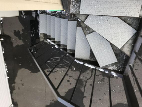 雪氷階段滑り止めマット