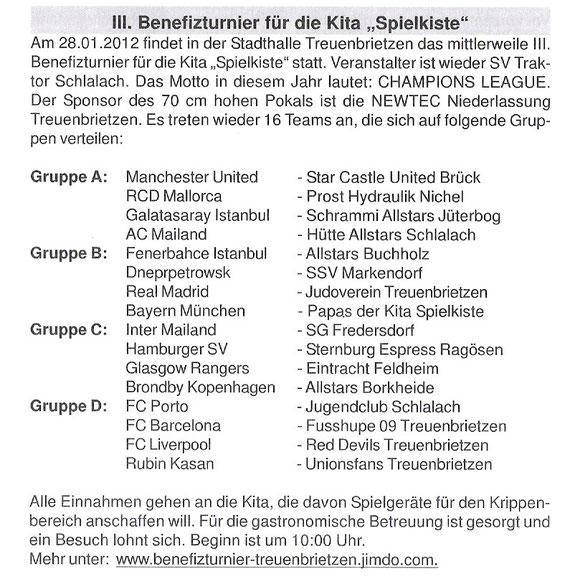 Treuenbrietzner Nachrichten vom 25.1.2012