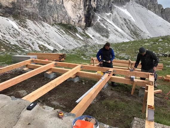Rahmenbau aus Lärchenholz