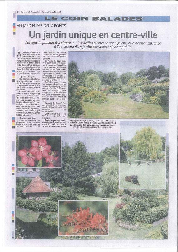 Le journal d'Abbeville mercredi 10 aout 2009