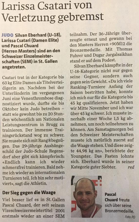 Artikel aus dem Zürcher Unterländer.