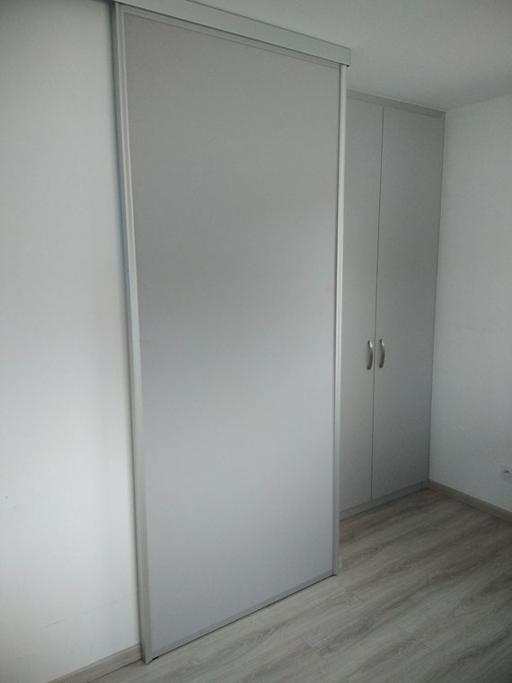 Paroi coulissante de séparation - Cuisine Home Concept Mesnil Raoul 76520