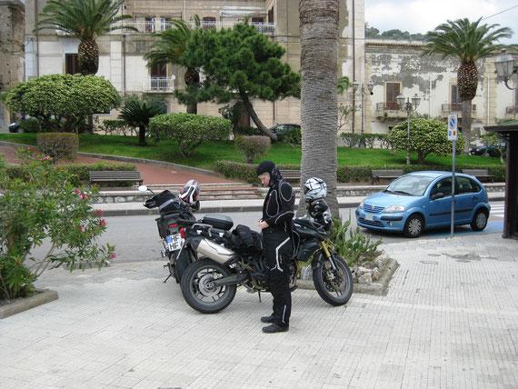 Pause auf dem Rückweg nach Catania