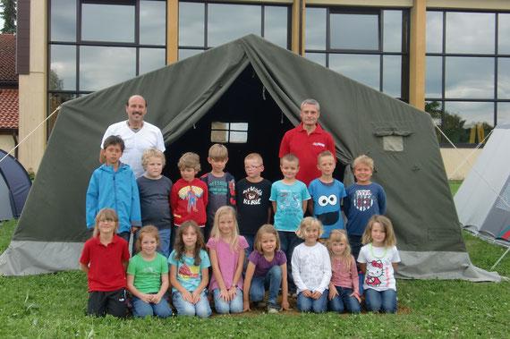 Kinder und Betreuer des TV Hausen o.V.