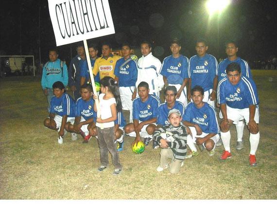EL EQUIPO DE CLUB CUAUHTLI, CAMPEON EN NUESTRA PRIMERA PARTICIPACION DEL TORNEO INTERLIGAS BICENTENARIO 2010, AL GANARLE AL EQUIPO DE TOLUCA (HUICHOLES), EN PENALTIES.
