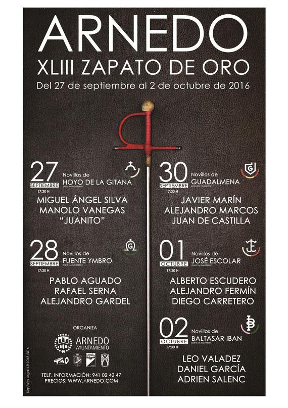 programa de las fiestas de San Cosme y San Damián en Arnedo