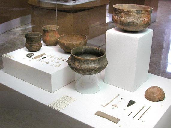 VITRINA DEL MUSEO DE PREHISTORIA DE LA DIPUTACIÓN DE VALENCIA