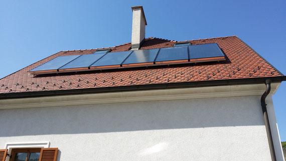 Solaranlage thermisch Warmwasser Heizungsunterstützung