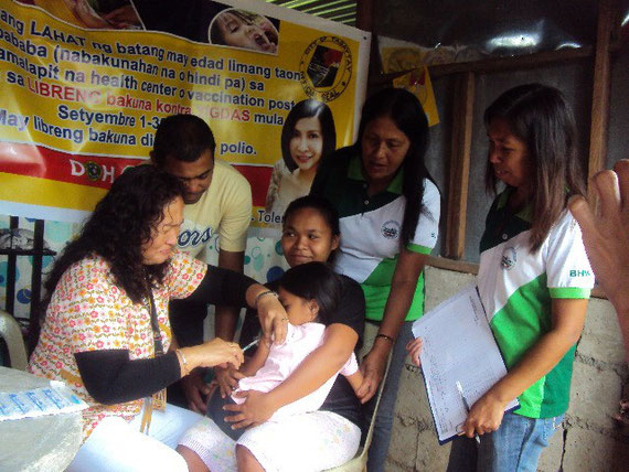 Anti-Measles and Anti-Polio  Vaccination for  children in the community as part of Nutrient -Supplementation Program of the City Government.