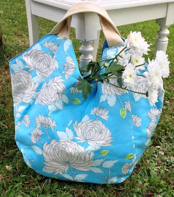 aus Amy Butler BELLE - Chrysanthemum Blue