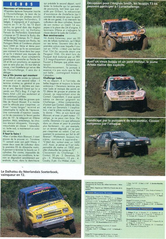 1994 - Rallyes Magazines - Rallye Jean de la Fontaine