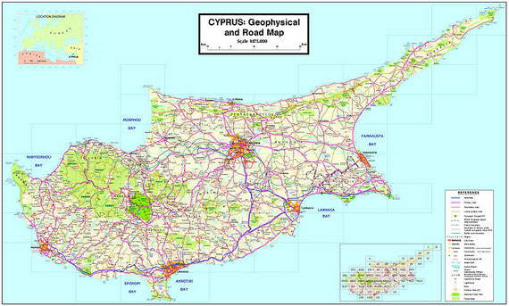 Map of Cyprus from Cyprus Wikipedia site