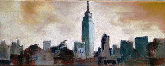 La Mantia Marilena - Skyline - olio tela 50 X 20