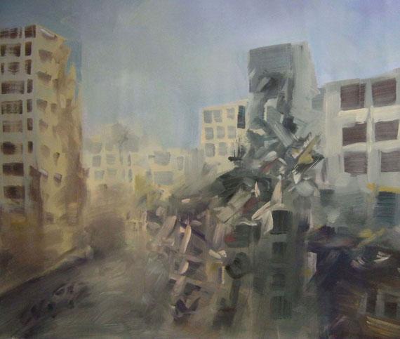 Hayssam Masri - Astrattismo... ma reale - olio su tela - 140 X 110