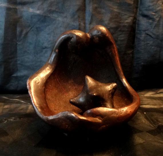 Maison couple (oeuvre en bronze réalisé au Burkina Faso février 2012)
