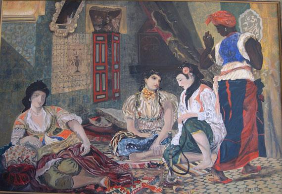 Femmes d'Alger dans leurs appartements Eugène Delacroix