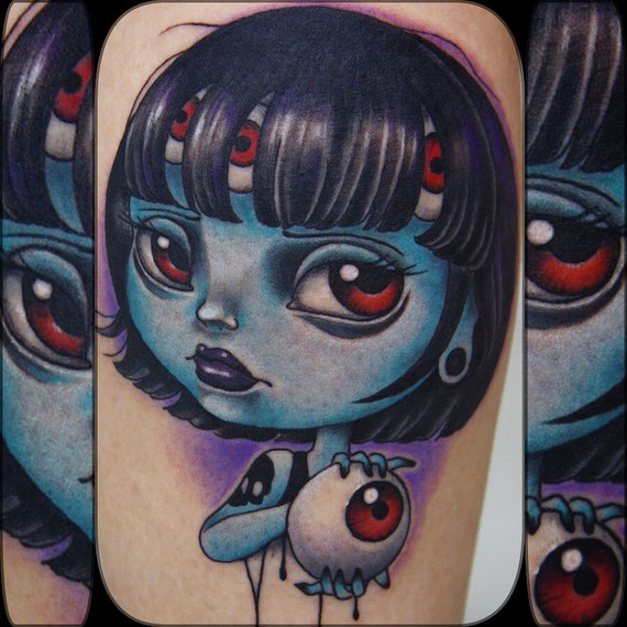 eyes girl tattoo