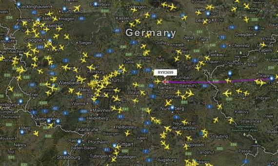 Bild: flightradar ; anklicken=vergrößern