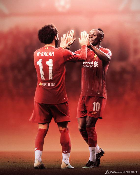 Mohamed Salah et Sadio Mané - Liverpool