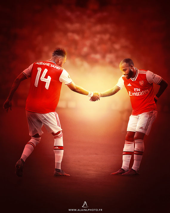 Pierre-Emerick Aubameyang et Alexandre Lacazette - Arsenal