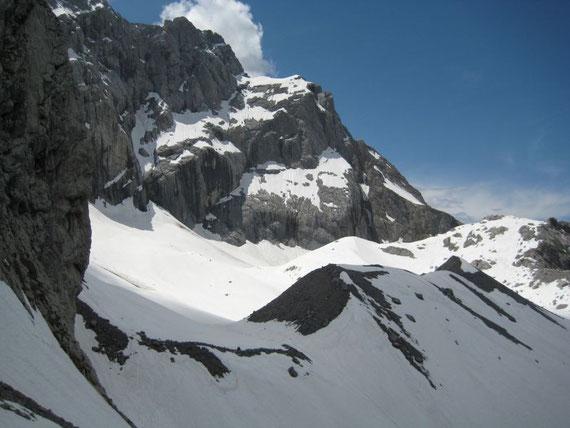 Blick über den östlichen Gletscherteil