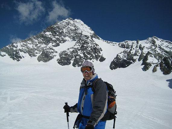 Bei der Abfahrt nochmals der Blick hinauf zum höchsten Berg Österreichs