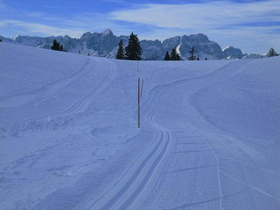 Blick nach Süden in die Julischen Alpen