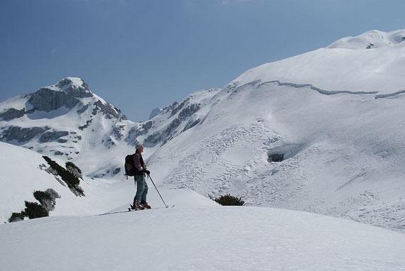 Beim Rückanstieg hinauf zum Col Delle Erbe