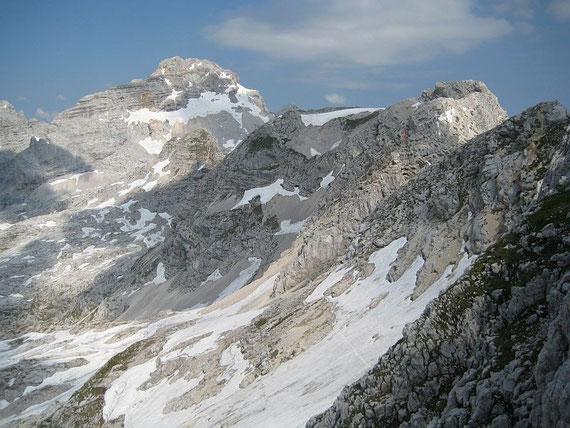 Querung zum Stenar, im Hintergrund Kriz (rechts) und Razor (links)