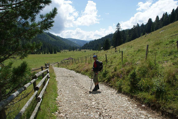 Der lange Weg zurück durchs Gurktal Richtung St. Lorenzen