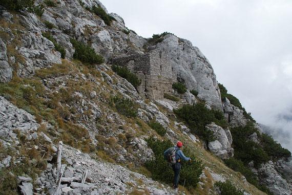 Nach der kurzen Felsquerung beim Abstieg vom Gosadon