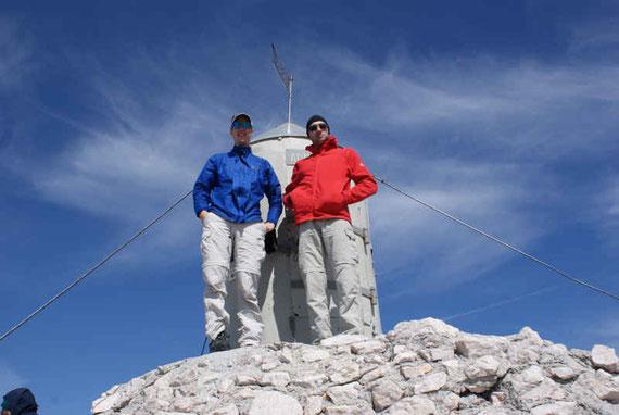 Der Gipfel ist erreicht, die Aussicht ist grandios