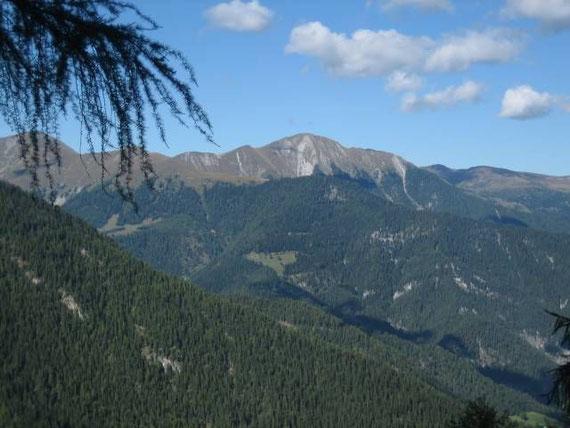 Beim Aufstieg der Blick nach Norden zum Staff (2217m)