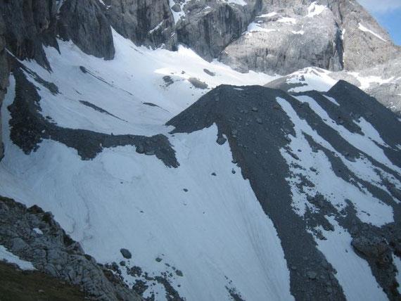 Der Blick über den östlichen Gletscherteil