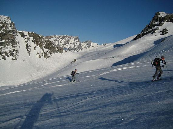 In rund 2800m zeigt sich im Westen die Stüdlhütte